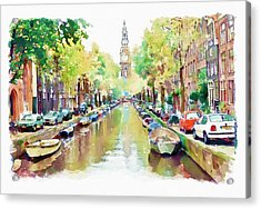 Amsterdam Canal 2 Acrylic Print by Marian Voicu