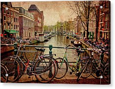Amsterdam Canal Acrylic Print by Jill Smith