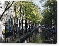 Acrylic Print featuring the photograph Amsterdam Canal by Wilko Van de Kamp