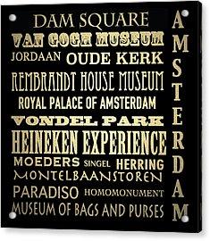 Amsterdam Famous Landmarks Acrylic Print
