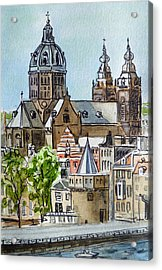 Amsterdam Holland Acrylic Print by Irina Sztukowski