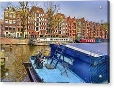 Amsterdam Houseboats Acrylic Print