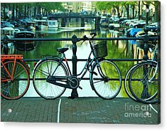 Acrylic Print featuring the photograph Amsterdam Scene by Allen Beatty