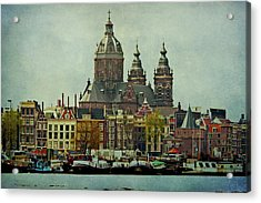 Amsterdam Skyline Acrylic Print by Jill Smith