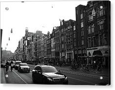 Acrylic Print featuring the photograph Amsterdam Traffic 2 by Scott Hovind