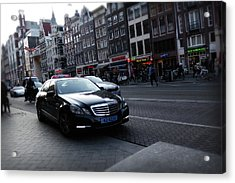 Acrylic Print featuring the photograph Amsterdam Traffic 3 by Scott Hovind
