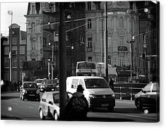 Acrylic Print featuring the photograph Amsterdam Traffic by Scott Hovind