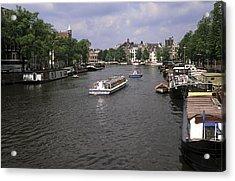 Amsterdam Water Scene Acrylic Print