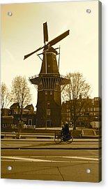 Amsterdam Windmill Acrylic Print by Matthew Kennedy