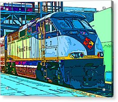 Amtrak Locomotive Study 2 Acrylic Print