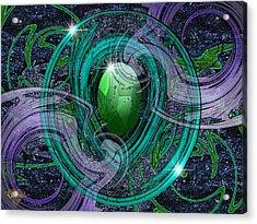 Amulet Acrylic Print by Greg Piszko