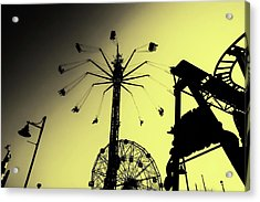 Amusements In Silhouette Acrylic Print