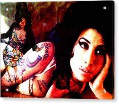 Amy Amy Amy Acrylic Print by Ankeeta Bansal