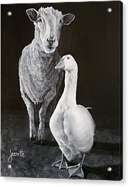 Amy And Gracie Acrylic Print