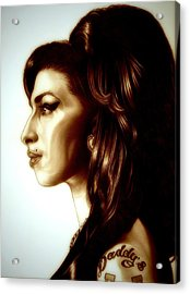 Amy Acrylic Print by Fred Larucci