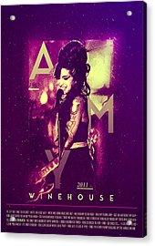 Amy Winehouse Back To Black Lyric Acrylic Print