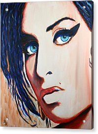 Amy Winehouse Back To Blue Acrylic Print
