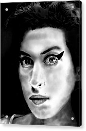 Amy Winehouse Acrylic Print by Penny Ovenden