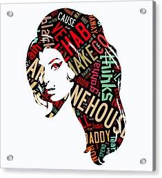 Amy Winehouse Rehab Acrylic Print by Marvin Blaine