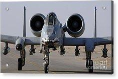 An A-10 Thunderbolt II Acrylic Print by Stocktrek Images