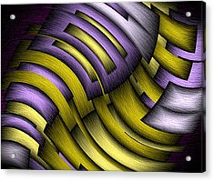 An Abstract Slope Acrylic Print by Terry Mulligan