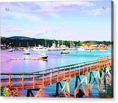 An Abstract View Of Southwest Harbor, Maine  Acrylic Print