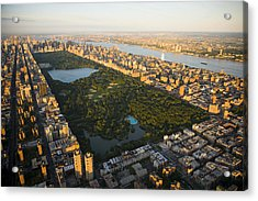 An Aerial View Of Central Park Acrylic Print by Michael S. Yamashita