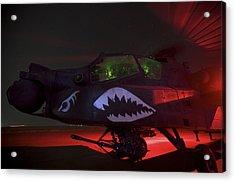An Ah-64d Apache Longbow Acrylic Print by Terry Moore