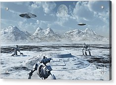 An Alien Base Located In The Antarctic Acrylic Print