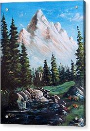 An Alpine Stream Acrylic Print
