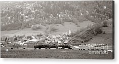An Alpine Village  Acrylic Print by Olivier Le Queinec