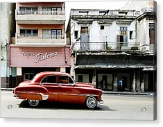 Acrylic Print featuring the photograph An American In Havana by Denis Rouleau
