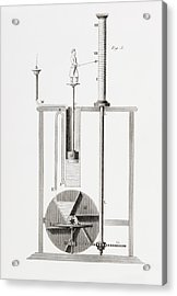 An Ancient Clepsydra Or Water Clock Acrylic Print by Vintage Design Pics