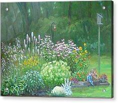An Angel In My Garden Acrylic Print by Bonita Waitl