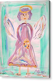 An Angel Of Vision Acrylic Print by Mary Carol Williams