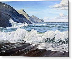 An April Morning At Crackington Haven Acrylic Print