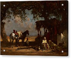 An Arab Encampment Acrylic Print by Gustave Guillaumet