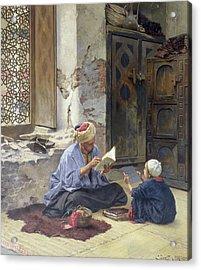 An Arab Schoolmaster Acrylic Print