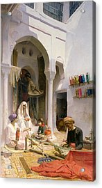 An Arab Weaver Acrylic Print by Armand Point