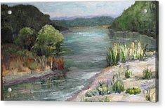 An Arkansas River Sandbar Acrylic Print