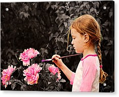 An Artistic Touch Acrylic Print