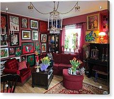 An Artists Livingroom Acrylic Print