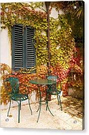 An Autumn Corner Acrylic Print by Rae Tucker