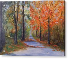 An Autumn Drive Acrylic Print