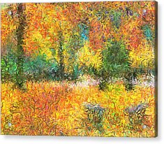 An Autumn In The Park Acrylic Print