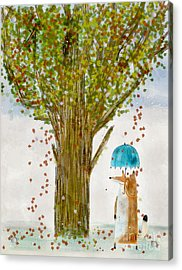 Acrylic Print featuring the painting An Autumns Day by Bri B