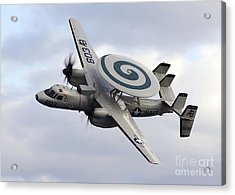 An E-2c Hawkeye Performs A Fly-by Acrylic Print by Stocktrek Images