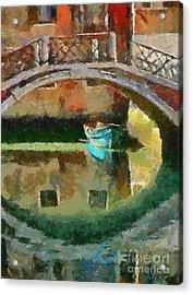 An Early Morning In Venice Acrylic Print by Dragica  Micki Fortuna