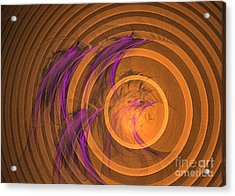 Acrylic Print featuring the digital art An Echo From The Past - Abstract Art by Sipo Liimatainen