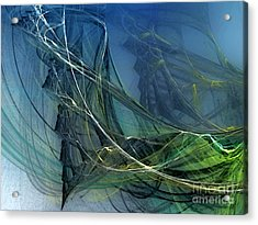 Acrylic Print featuring the digital art An Echo Of Speed by Karin Kuhlmann